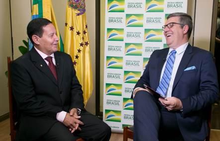 SBT Rio Grande exibe entrevista exclusiva com o vice-presidente Hamilton Mourão