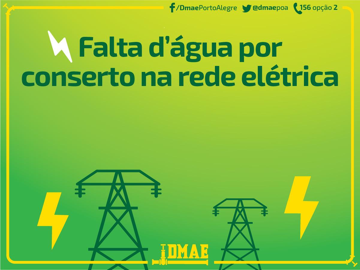 Porto Alegre: Desligamento de energia elétrica poderá causar falta de água