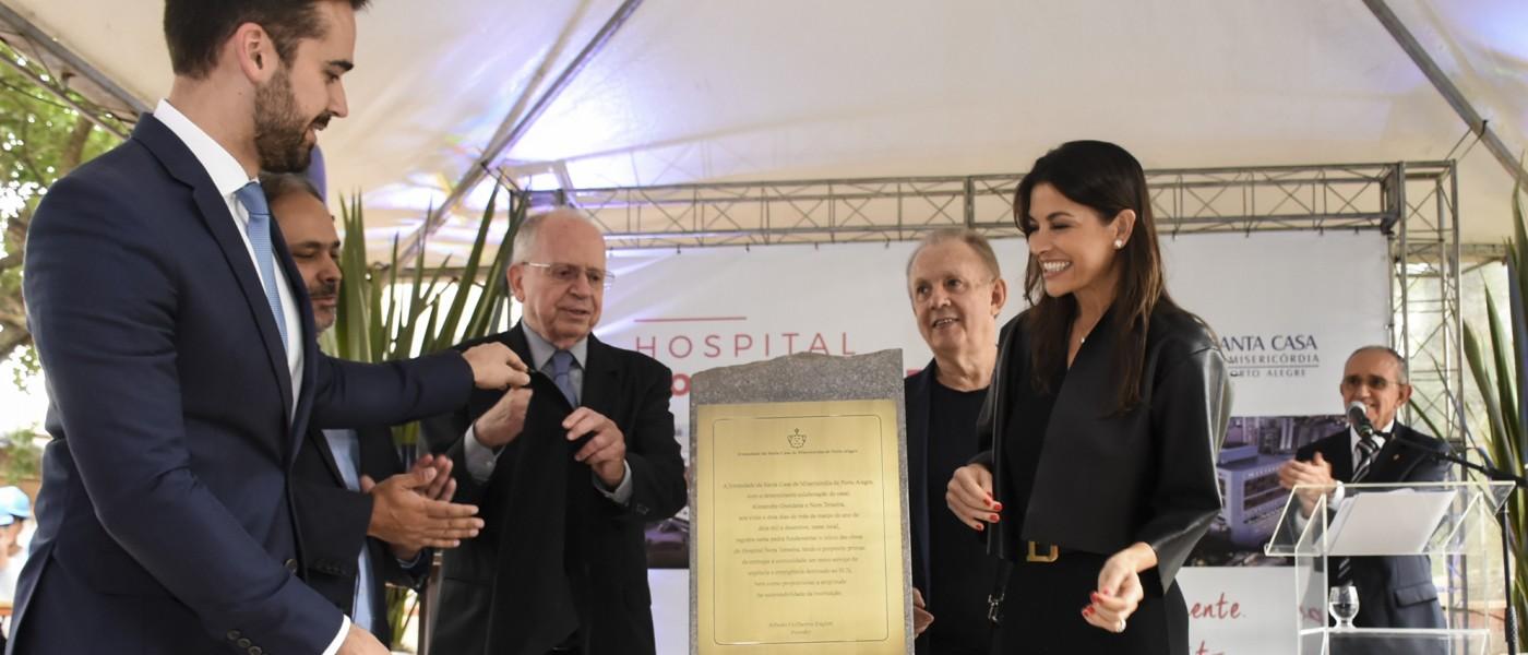 Porto Alegre: Alexandre Grendene e Nora Teixeira doam mais R$ 20 milhões para a construção do Hospital do complexo Santa Casa