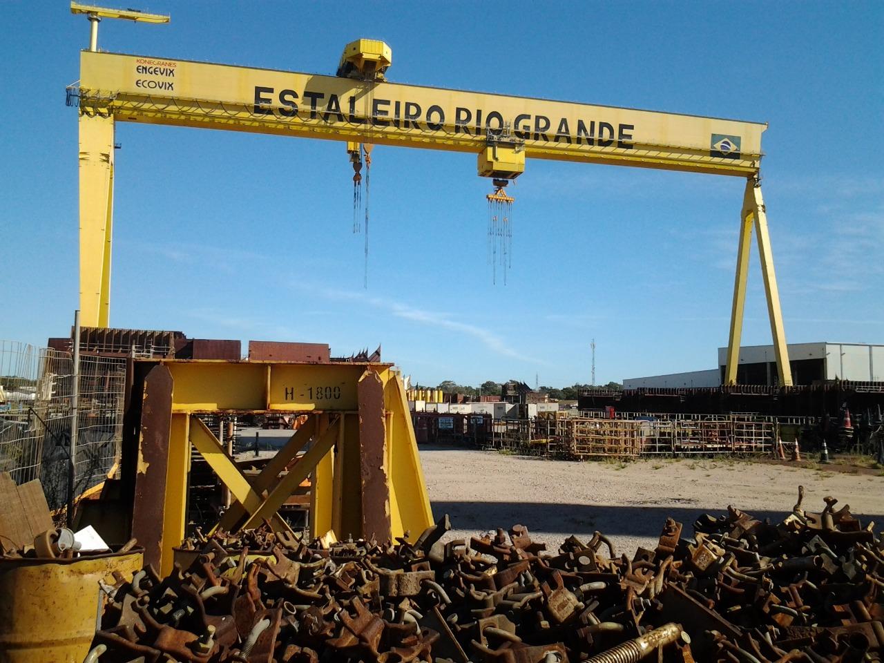 Remoção de estruturas no Estaleiro Rio Grande deve gerar 400 empregos