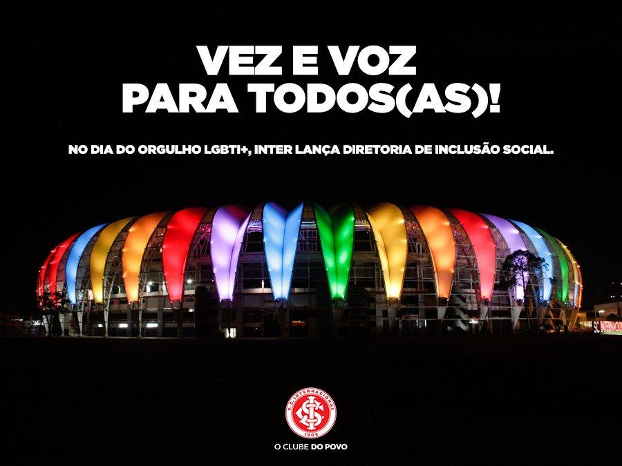RS: Internacional cria Diretoria de Inclusão Social no Dia Internacional do Orgulho LGBTI+
