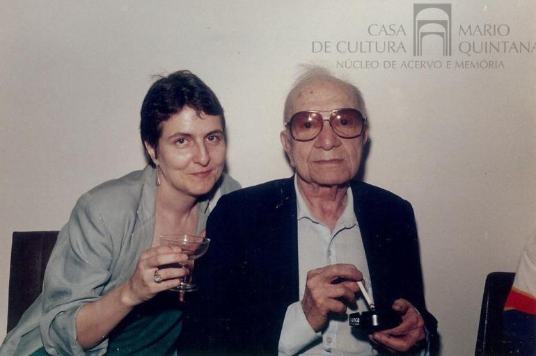 Morre sobrinha-neta de Mario Quintana em Porto Alegre. Elena Quintana Oliveira era herdeira das obras do poeta alegretense; do Correio do Povo