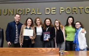 Período de Comunicações em homenagem aos 15 anos da Revista Voto. Na foto, a presidente Mônica Leal e a equipe da Revista Voto