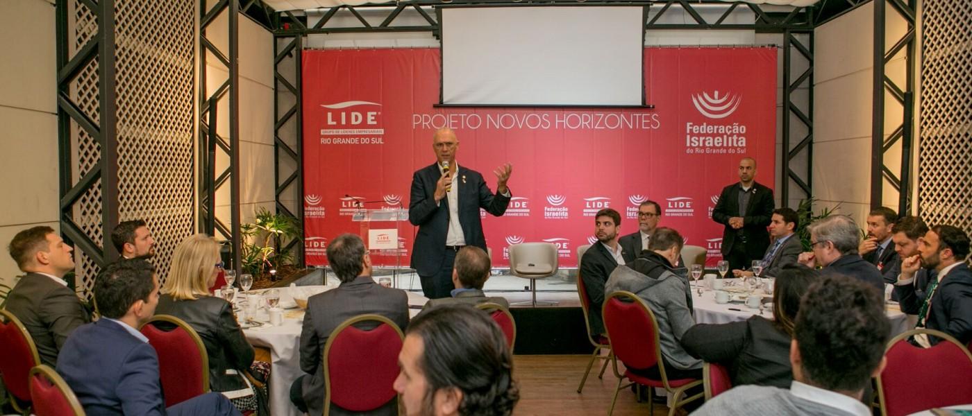 Em evento do LIDE RS, embaixador de Israel no Brasil aponta a tecnologia e a inovação como principais fatores do desenvolvimento