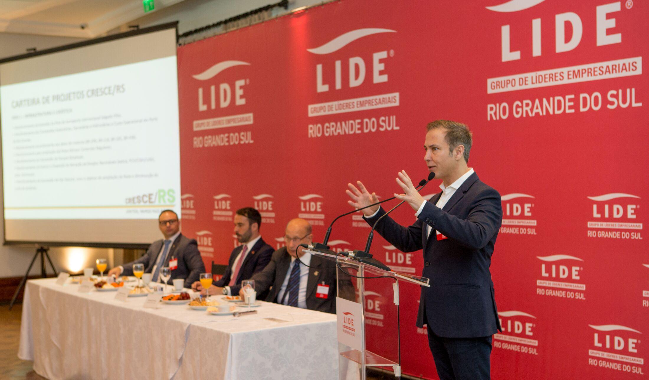 Porto Alegre: CRESCE/RS nasce como um Conselho de Estado, não de Governo, diz Lara, em encontro do LIDE RS com empresários
