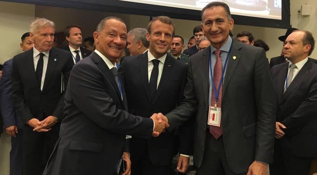 'Estamos discutindo tudo isso sem o Brasil presente', diz Macron sobre ausência de Bolsonaro na Cúpula do Clima