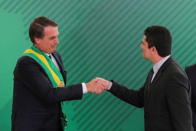 Bolsonaro diz que a 'chance é zero' de dividir ministério de Moro; por Paulo Beraldo/O Estado de São Paulo