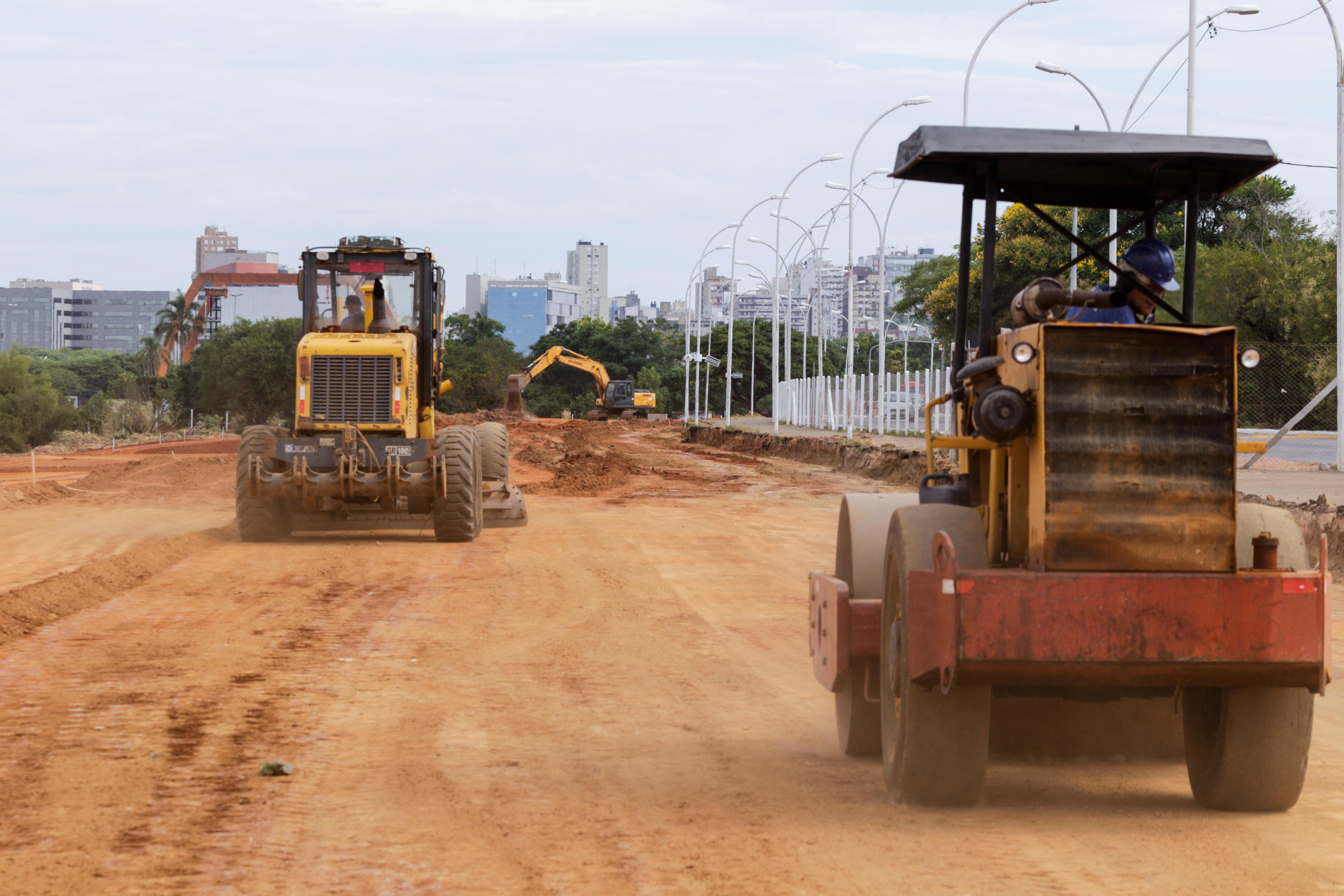 Porto Alegre: Avançam as obras do trecho 3 da orla do Guaíba