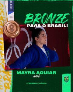 Tóquio 2020: Mayra Aguiar conquista o bronze e entra para a história olímpica brasileira. Judoca da Sogipa é a 1ª brasileira tri-medalhista em esportes individuais