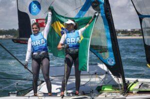 Martine Grael e Kahena Kunze são bicampeãs olímpicas na classe 49er FX, da Redação Bandsports