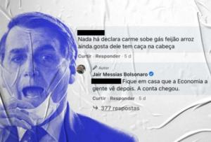 Pressionado pela inflação, Bolsonaro bate boca com críticos no Facebook; Metrópoles